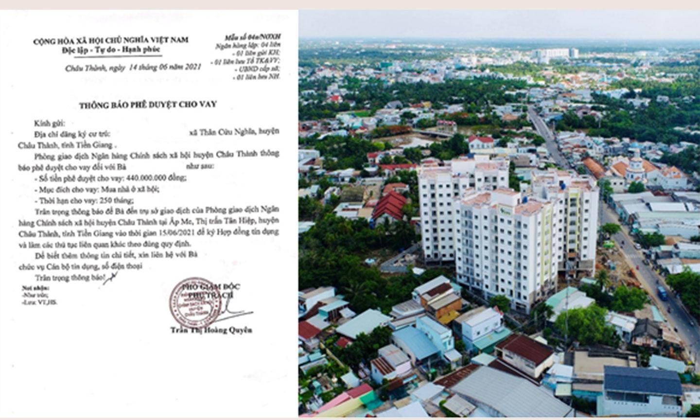 Ngân hàng Chính sách xã hội Tiền Giang tiếp tục giải ngân gói vay hỗ trợ người dân mua nhà tại TP. Mỹ Tho